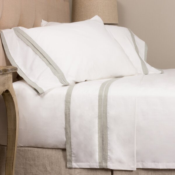 Banded 280 100% Cotton Sheet Set by Amity Home